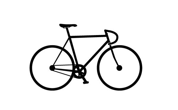 Simple Bicycle Drawing Simple Bike Drawing